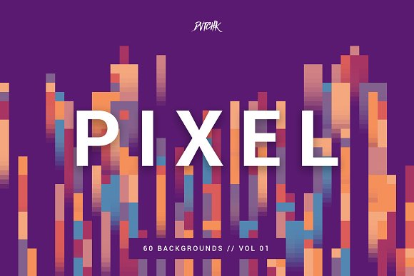 Pixel Colorful Backgrounds V 01