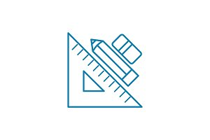 Design tools linear icon concept. Design tools line vector sign, symbol, illustration.