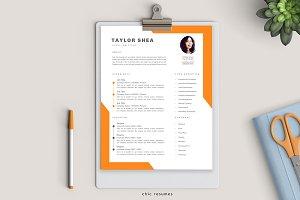 Creative 3-Page Resume in Orange