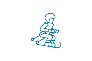 Extreme sport linear icon concept. Extreme sport line vector sign, symbol, illustration.