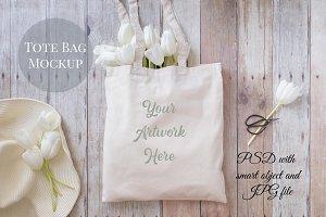 Tote Bag Mockup- Gardening