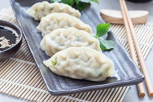 Steamed Korean dumplings Mandu