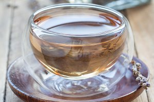 Herbal lavender tea
