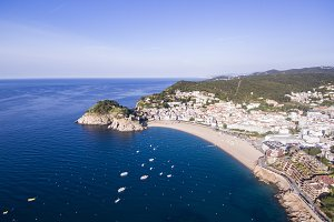 Aerial view of Tossa de Mar, Spain