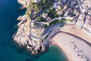Aerial view of Tossa de Mar