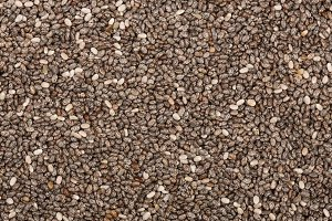 Chia seeds as a background. Top view