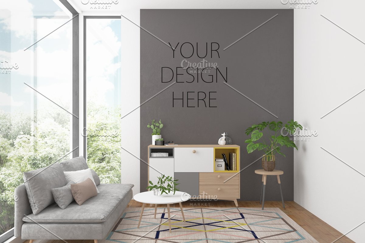 Artwork background Interior mockup in Print Mockups - product preview 8