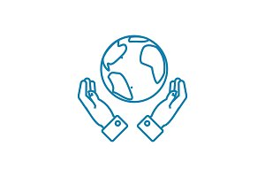 Global opportunities linear icon concept. Global opportunities line vector sign, symbol, illustration.