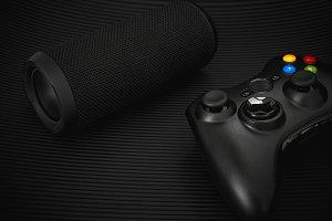 Portable speaker and gamepad