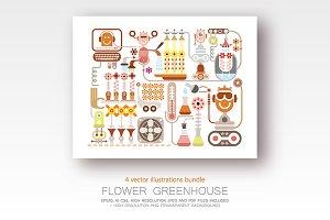 Flower Greenhouse (4 options)