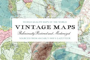 90 Vintage Maps of the World