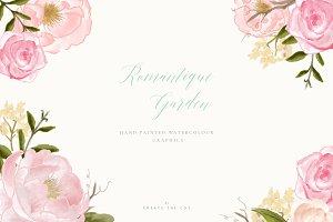 Flower Clip Art - Romantique Garden
