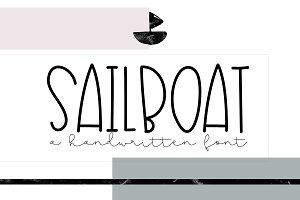 Sailboat - A Cute Handwritten Font