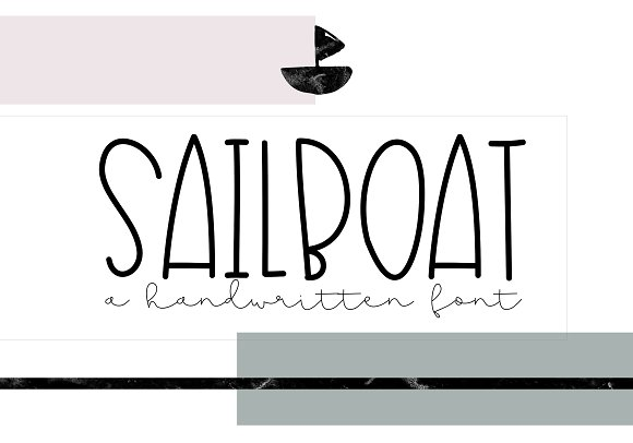Sailboat A Cute Handwritten Font