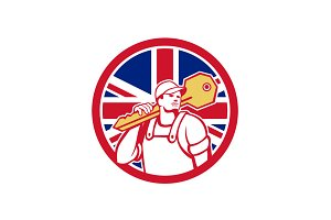 British Locksmith Union Jack Flag Ic