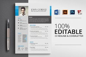 Creative CV Resume Word Format