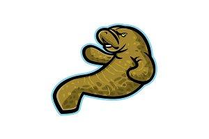 Angry Manatee Mascot