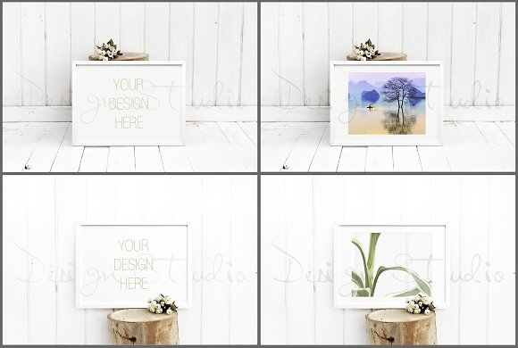Frame Mockups Bundle, White Concept in Print Mockups - product preview 1