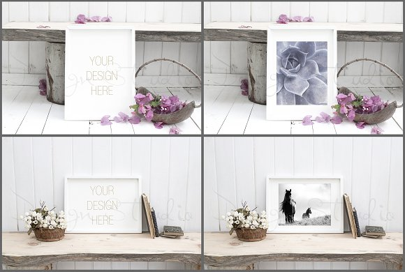 Frame Mockups Bundle, White Concept in Print Mockups - product preview 2