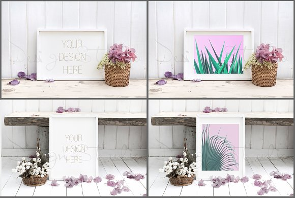Frame Mockups Bundle, White Concept in Print Mockups - product preview 5