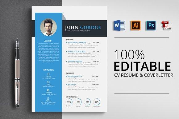 Word Resume CV Template
