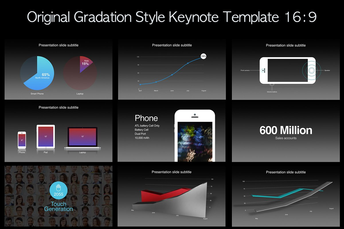 Apple Keynote Template Keynote Templates Creative Market