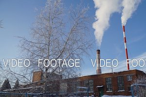 Thermal power plant, boiler house.