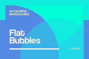 Flat Bubbles Backgrounds | Vol. 01