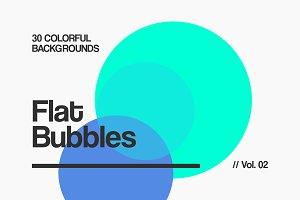 Flat Bubbles Backgrounds | Vol. 02
