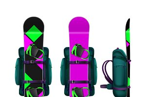 Snowboards with bindings