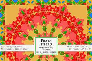Fiesta Tiles 3:  BRIGHT happy floral