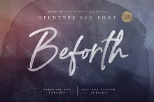 Beforth - OpenType SVG Font by Greg Nicholls in Display Fonts