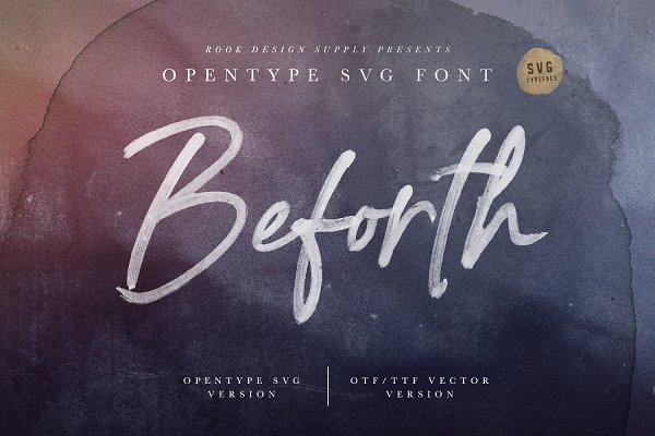 Fonts: Greg Nicholls - Beforth - OpenType SVG Font