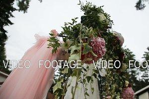 Wedding ceremony arch.