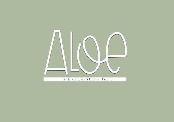 Aloe - A Handwritten Font