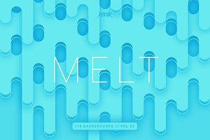 Melt | Rounded Backgrounds | Vol. 02