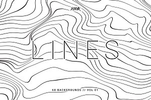 Lines | Wavy Backgrounds | Vol. 01