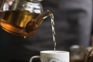 Cup of hot herbal tea