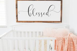 Peach Floral Baby Room