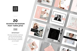 Fashion Instagram Post Templates
