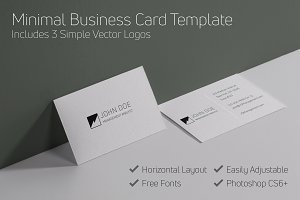 Minimal Business Card + Logo