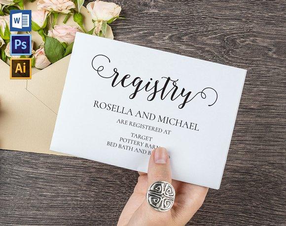 Registry Cards Editable WPC460