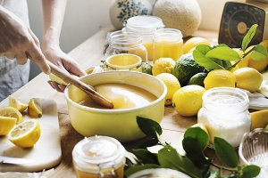 Woman doing Lemon curd
