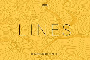 Lines | Wavy Backgrounds | Vol. 03