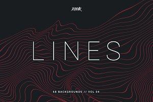 Lines   Wavy Backgrounds   Vol. 04