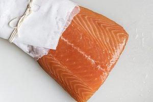 Fresh raw salmon food