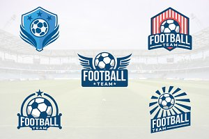 5 Football Soccer Club Logo