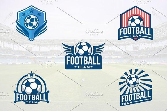 5 Football Soccer Club Logo