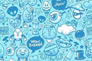 Graffiti Seamless Pattern #2