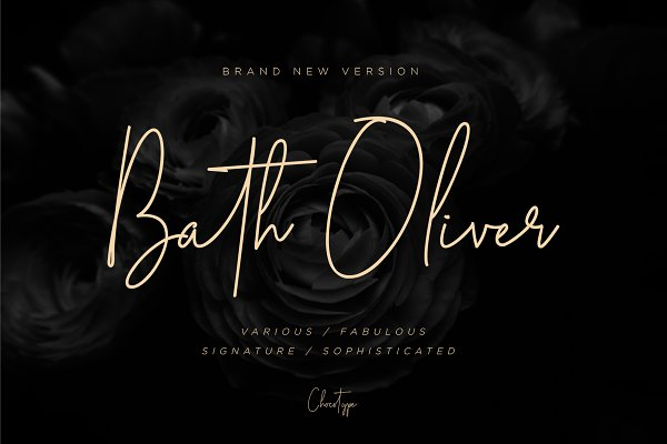 Fonts: Chocotype - Bath Oliver Font | 40% OFF
